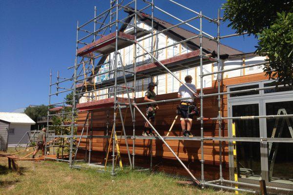 Whangamata Design & Build – Cladding Stage